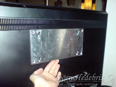 aluminiumplatta, fäste, tv fäste, aluminium, fräs, hemmabio