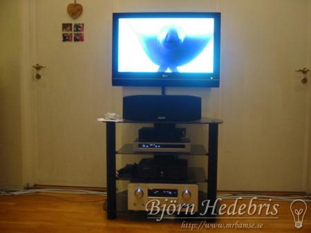 aluminiumplatta, fäste, tv fäste, aluminium, fräs, hemmabio, högtalare, receiver, LG, Marantz