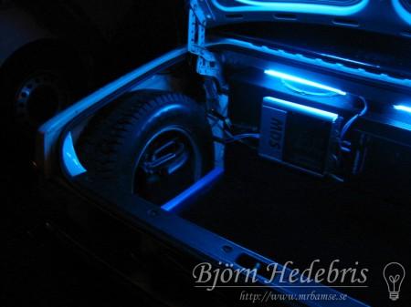 Volvo 240, bagagelucka, Blaupunkt, MDS, Kondensator