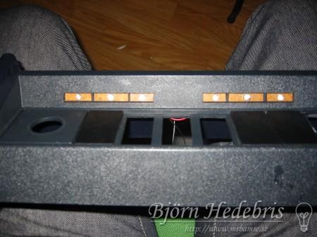 Lysdioder i Volvo 240 mittkonsol