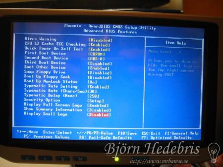 """BIOS på 7"""" wide TFT"""