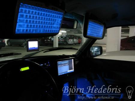 Dator, tangentbord, bildator, gps, volvo 240, skärm, touchskärm, display