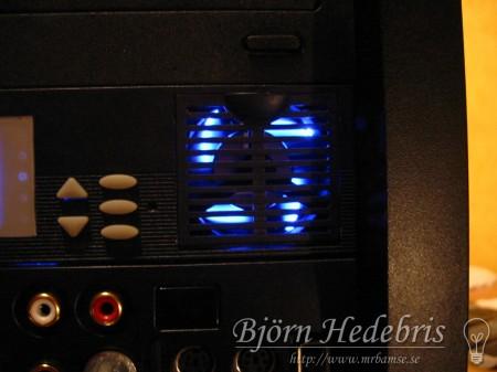 Lysdioder i 40mm fläkt