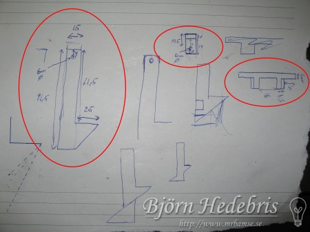 Projektortavla, projektorduk, träram, hemmabio, spotlight, taklampa, upphängning, aluminium, ritning