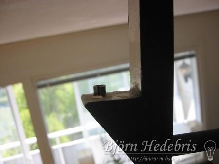 Projektortavla, projektorduk, träram, hemmabio, spotlight, taklampa, upphängning, aluminium, fräs
