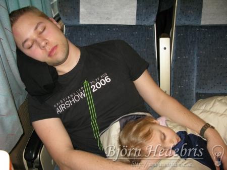 Jag och Julia sover